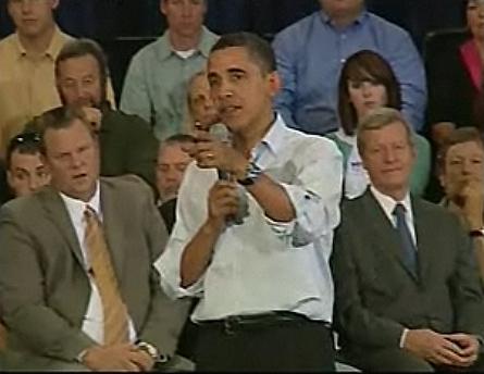 Obama defensa el seu pla en una reunió pública. Font: 3/24
